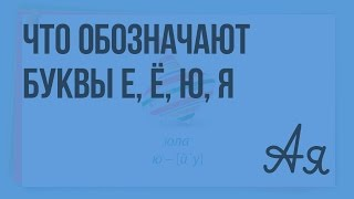 Что обозначают буквы е, ё, ю, я. Видеоурок  по русскому языку 2  класс