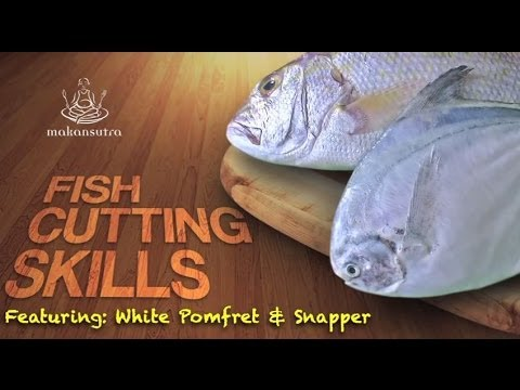 How to cut a fish - Pomfret & Snapper