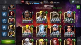MCOC synergy teams and how it effects your champs for lol enrage timer - aq map 5 fight