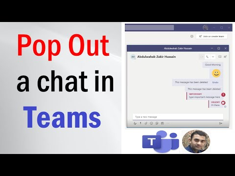 Pop Out a Chat in Microsoft Teams | Popo-Out Chat | Open Chat in Separate Windows | #popoutchat