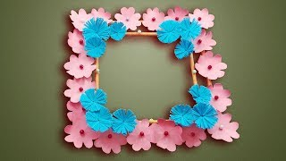 Diy paper flowers wall Decoration -Wall hanging ideas   How To Make simple paper flower wall hanging
