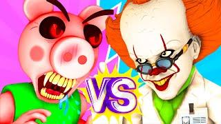 Пигги vs Пеннивайз - Фильм Ной Все Серии Подряд Roblox Piggy Роблокс Свинка Пеппа 3D Анимация