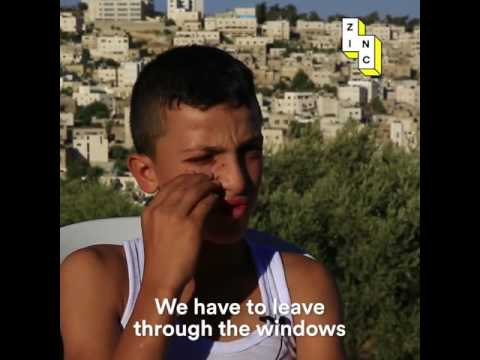 Palestine kids harassed going to school - westbank - israel oppression