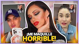 ME MAQUILLO HORRIBLE Y HAGO VIDEOLLAMADAS A MIS AMIGOS! | SE BURLARON DE MI? TERMINA MAL?
