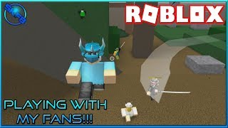 PLAYING WITH MY FANS!!! {} ROBLOX - Be A Parkour Ninja {} Funny Moments