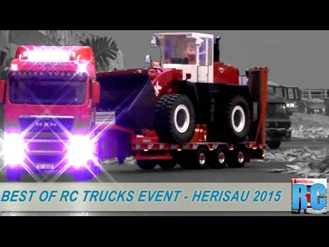 BEST OF RC TRUCKS EVENT - NEW YEAR RC DRIVE IN HERISAU, SWITZERLAND 2015 - RC EXCAVATOR AND MORE