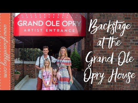 Backstage at the Grand Ole Opry House | LIVE Country Bands