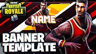 Fortnite YouTube Banner Template *FREE DOWNLOAD* *BASKETBALL SET*