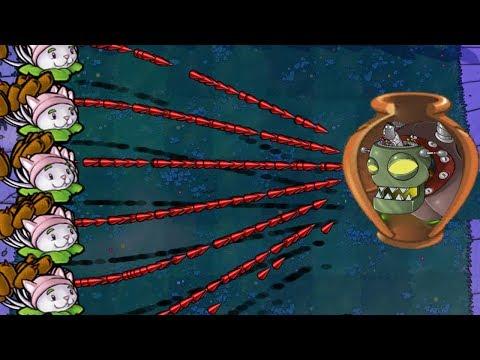 Plants vs Zombies Hack Vasebreaker Endless Cattail vs Zomplant Dr. Zomboss