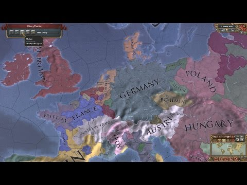 EU4 - Timelapse - Forming Germany as Frankfurt