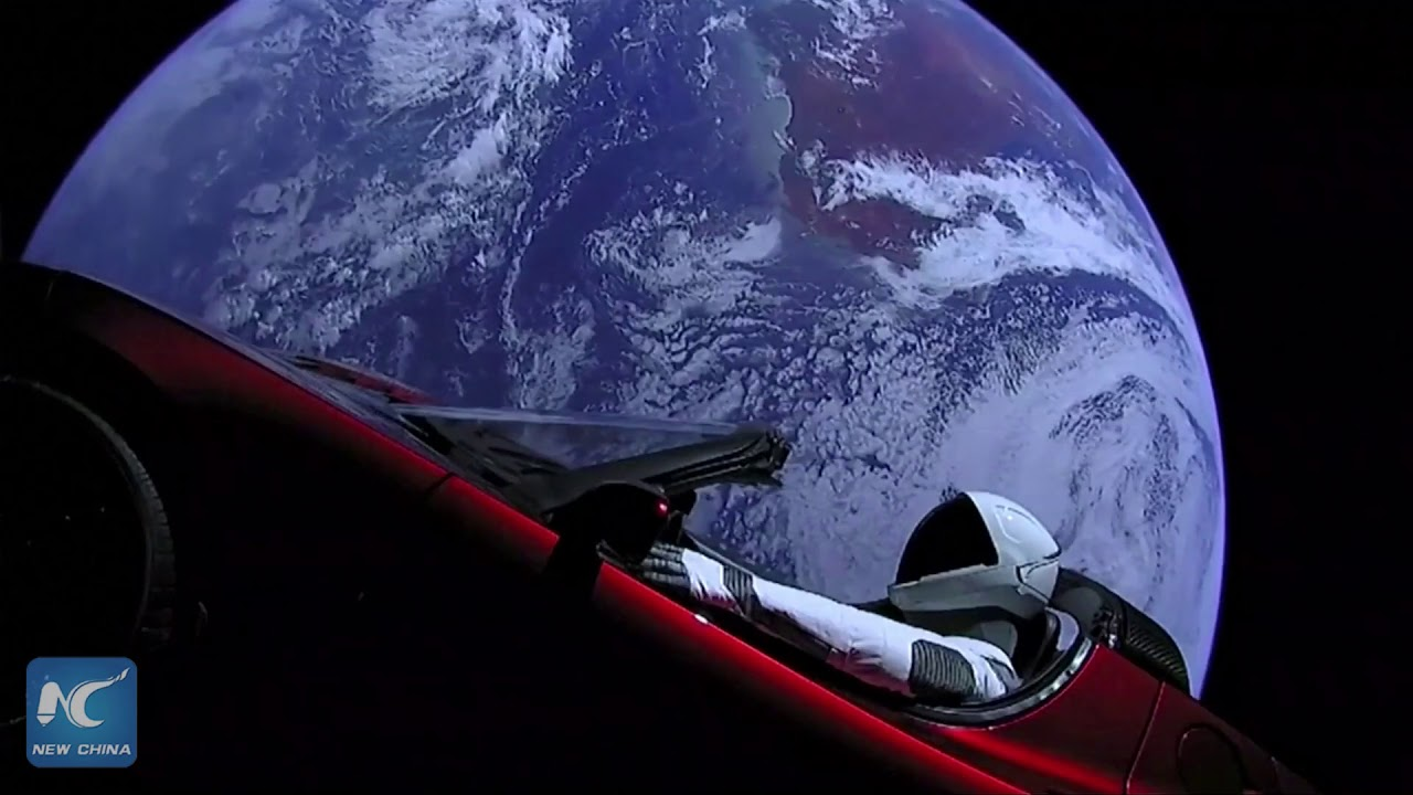 SpaceX streams video of Tesla Roadster floating through ...