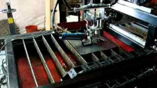 Cnc Plasma Table-downdraft And Water Tray- In Operation