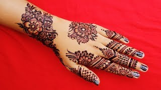 Unique Floral Mehndi Designs For Hands - Latest Floral Mehndi Design For Hands