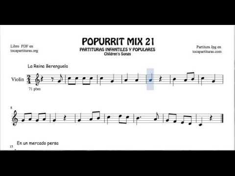 21 of 30 Popurrit Mix Sheet Music for Violin Berenguela Queen In a Persian Market Rice with Milk