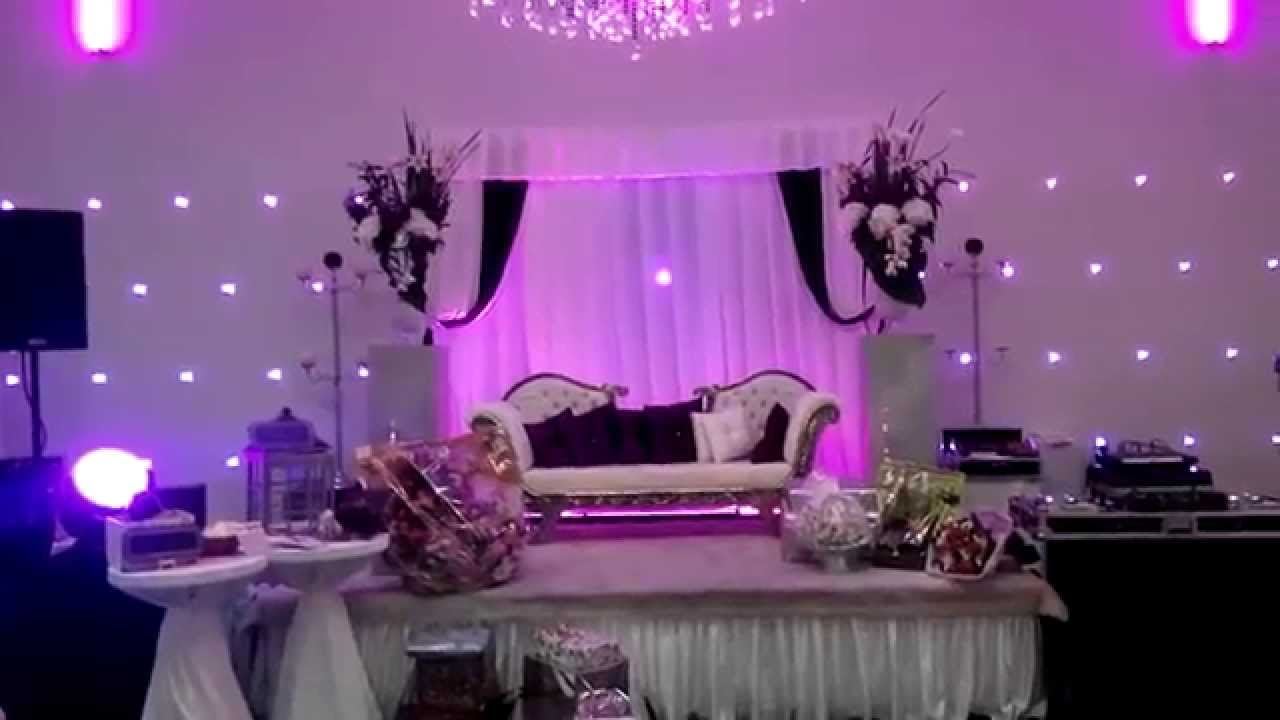 l 39 alhambra salle de r ception mariage soir e blanc noir violet youtube. Black Bedroom Furniture Sets. Home Design Ideas