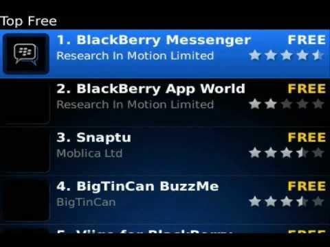 BlackBerry App World A to Z