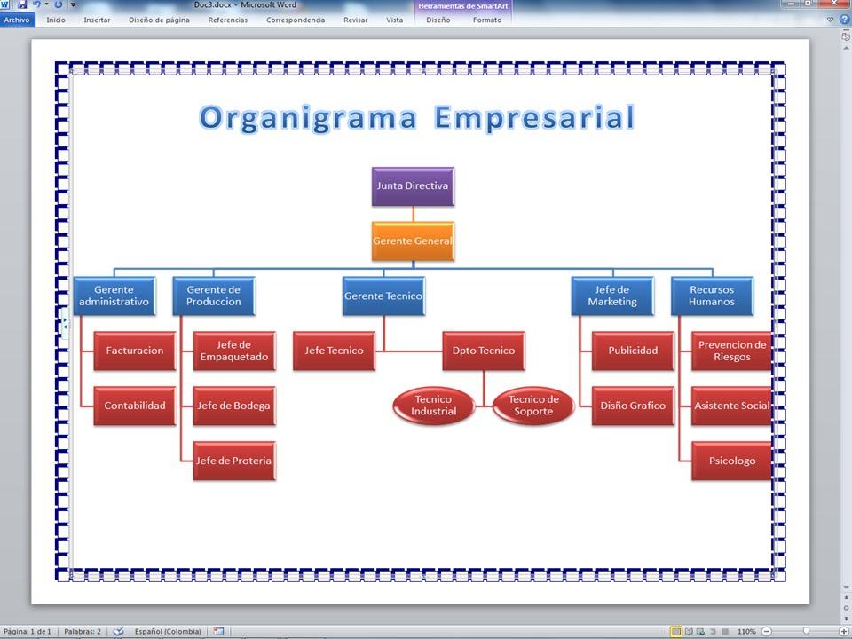 Como Crear Organigramas En Microsoft Word