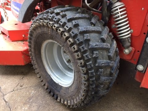 how to put tig chains on tractor tire