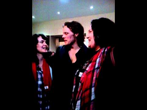 Sam heughan meets some fans i youtube