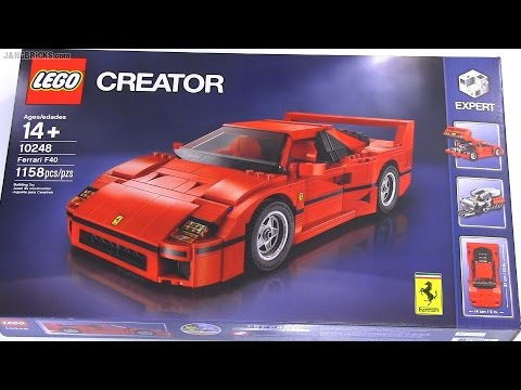 built in 60 seconds lego creator ferrari f40 set 10248. Black Bedroom Furniture Sets. Home Design Ideas
