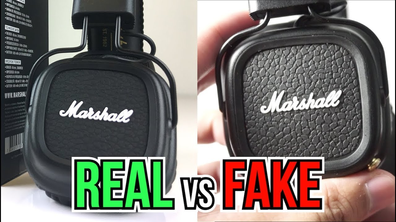 Fake Vs Real Marshall Major 2 Bluetooth Headphones Heres How To