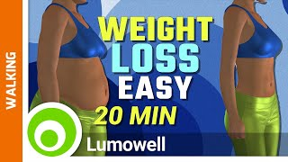 Walking At Home Weight Loss Workout - Full Body Exercise For Beginners