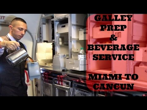 FLIGHT ATTENDANT | GALLEY PREP & BEVERAGE SERVICE | 737-800 | MIAMI TO CANCUN