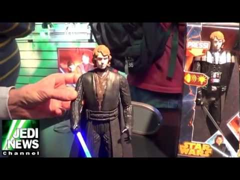 Anakin to Darth Vader Transformation Action Figure (2013 NY Toy Fair): The new Star Wars toy from Hasbro will be released in later 2013 and is the first action figure showing the transformation of Anakin Skywalker into Darth Vader.  This footage shot at the 2013 NY Toy Fair