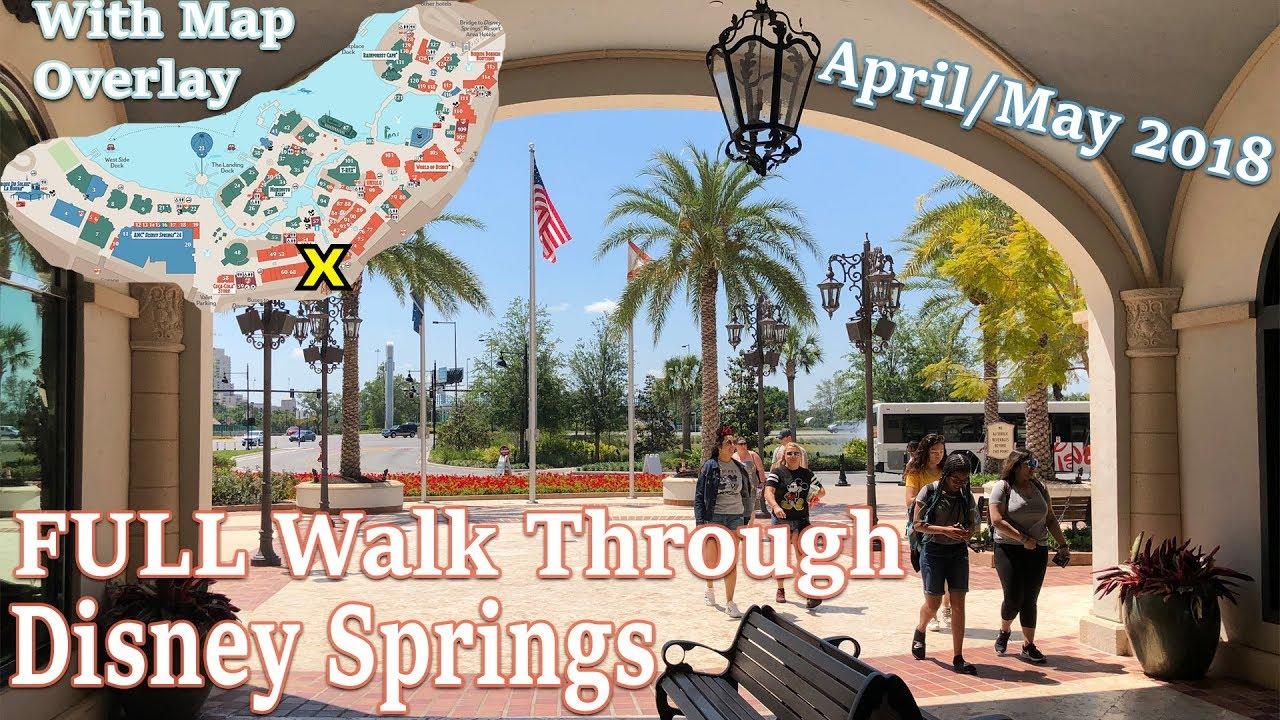 Disney Springs Map on