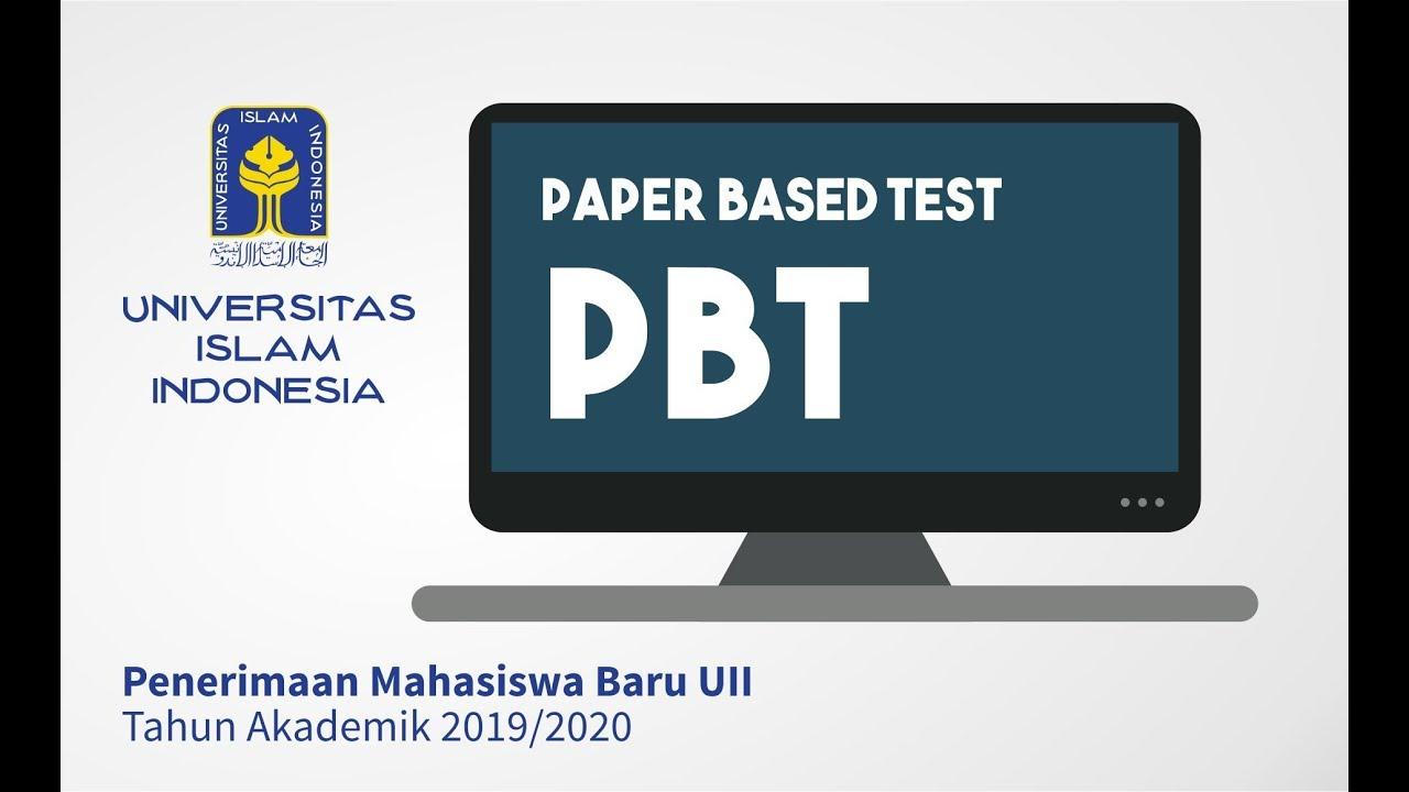 Pmb Uii 2019 Prosedur Paper Based Test Pbt Youtube