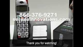 Serene Innovations CL60 Big button amplified talking Caller ID cordless phone - INTRODUCTION
