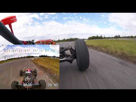 RC on Full-Size Track - Third Person View