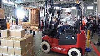 航空貨物の荷造りの技競うコンテスト「フォークリフト&パレットビルディング競技会」開催 JALカーゴサービスが3連覇 成田空港