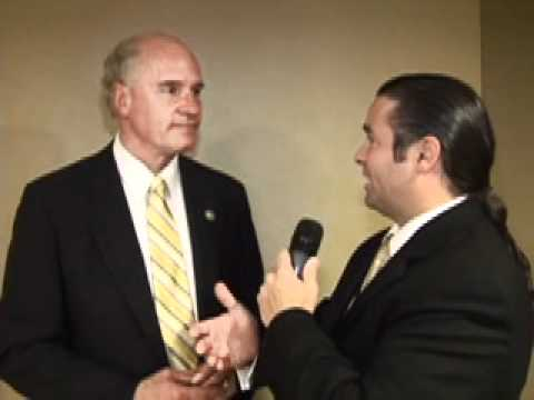 U.S. Rep. Bill Keating (D) Bourne interviewed at the annual Jefferson Jackson Day Dinner