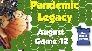 Pandemic Legacy Playthrough: August, Game 12 (SPOILERS)