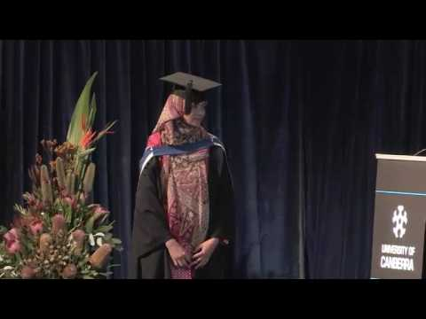 University of Canberra Graduation Ceremony Meliyanti