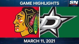 NHL Game Highlights | Blackhawks Vs. Stars - Mar. 11, 2021