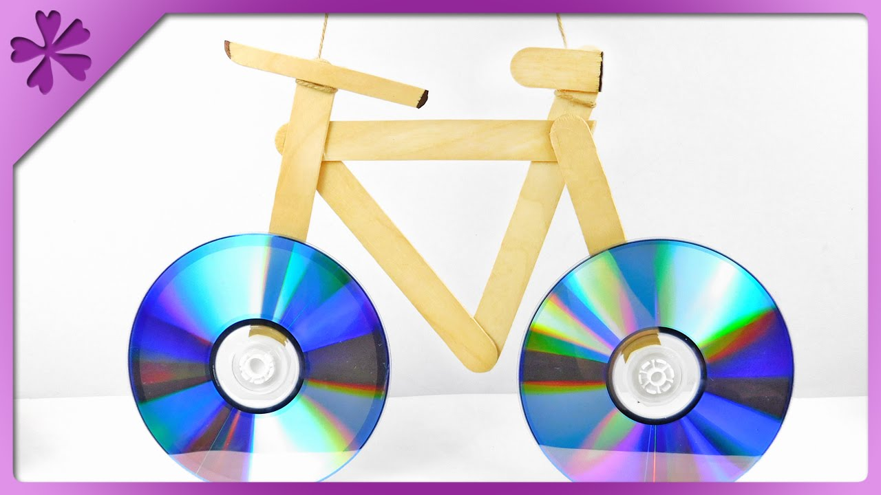 DIY CD bicycle, CD frame (ENG Subtitles) - Speed up #177 - YouTube