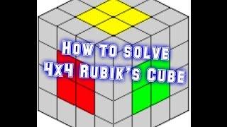 Cách giải tâm của Rubik 4x4 ( phần 1)