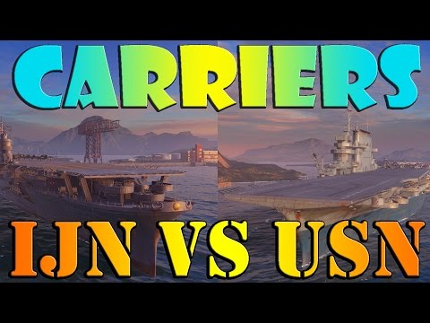 World of Warships - IJN vs USN Carriers - What a MESS