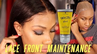 One of Jayla Koriyan's most viewed videos: SECRETS REVEALED! LACE FRONTAL WIG MAINTENANCE AND INSTALL! NO GLUE