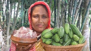 Farm Fresh Pointed Gourd With Mutton Recipe Homemade Bengali Cooking Easy Mutton Curry Village Food