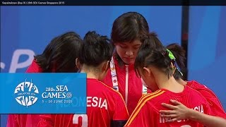 Sepaktakraw Womens Doubles INA vs VIE (Day 9) | 28th SEA Games Singapore 2015