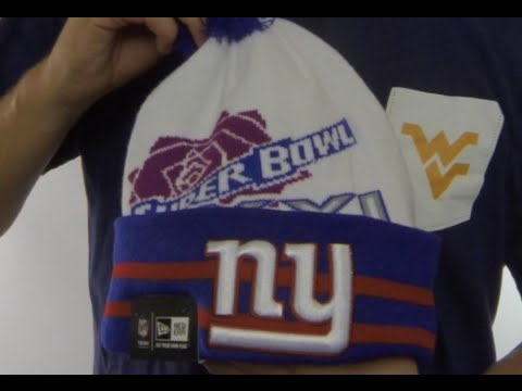 NY Giants  SUPER BOWL XXI  White Knit Beanie Hat by New Era - YouTube e67de1196