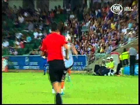 Besart Berisha Red Card Brisbane Roar Vs Perth Glory