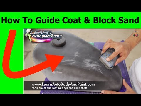How To Guide Coat And Block Sand Spot Putty To Fix Small