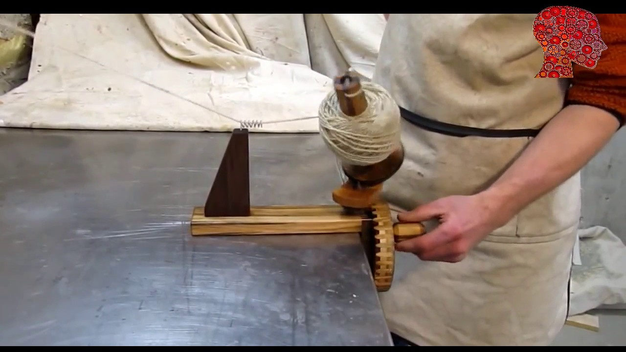 Woodworking # 71- DIY Homemade yarn winder - woodworking - YouTube