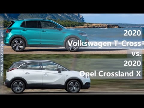 2020 Volkswagen T Cross Vs 2020 Opel Crossland X Technical Comparison Youtube