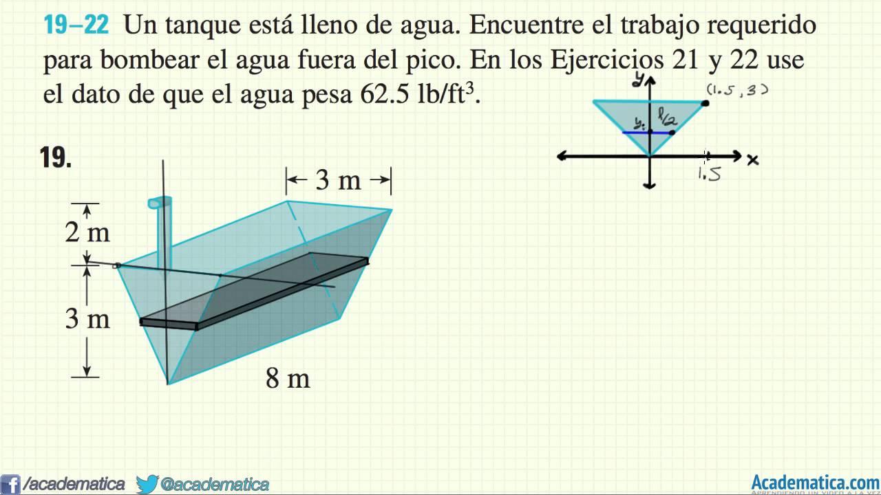 Trabajo vaciado de tanques ejemplo 1 youtube for Diferencia entre tanque y estanque