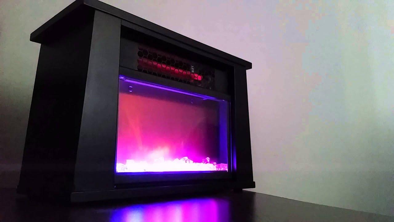 led infrared quartz desktop fireplace heater youtube